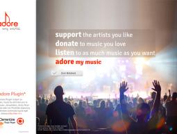 """Website – """"adore"""""""