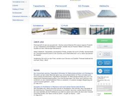Website – Trapezblech – Hersteller